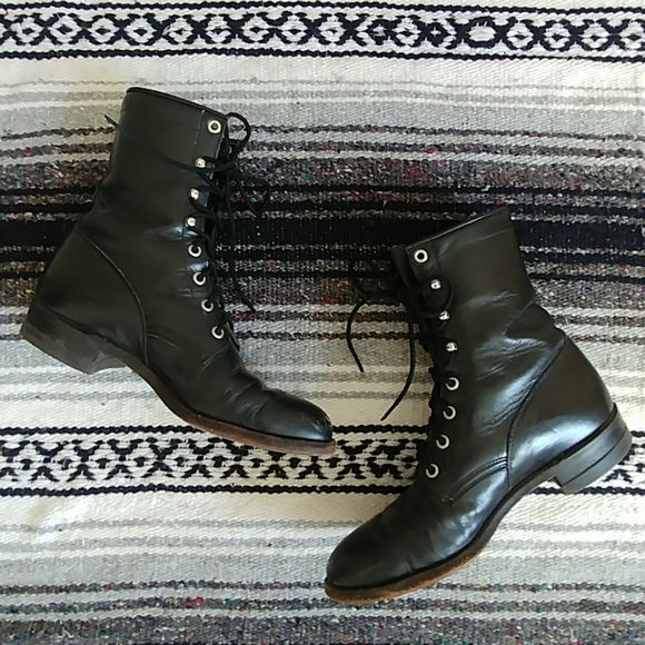 Justin Lace Up Boots Women Size